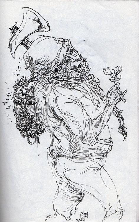 piece trusty fountain pen - illustration - kmrussellart | ello
