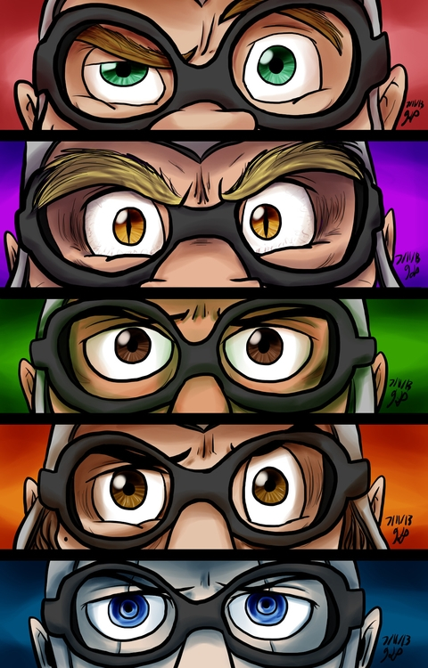 Eyes - illustration, aquabats, eyes - kelsbugproductions | ello