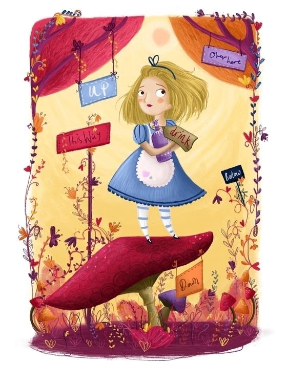 Alice wonderland - aliceinwonderland - illustratelucy | ello