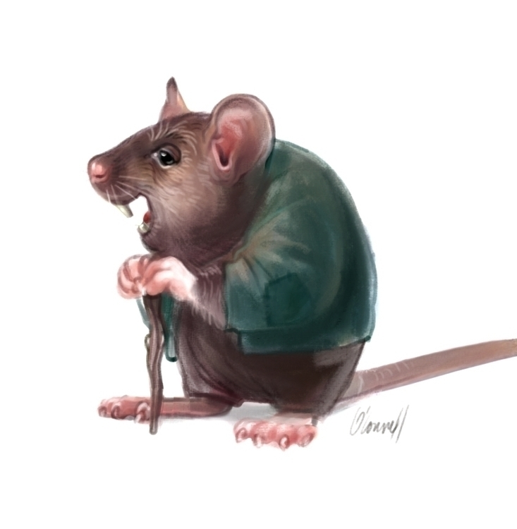 Wise mouse - characterdesign, character - johnoconnell-1072 | ello