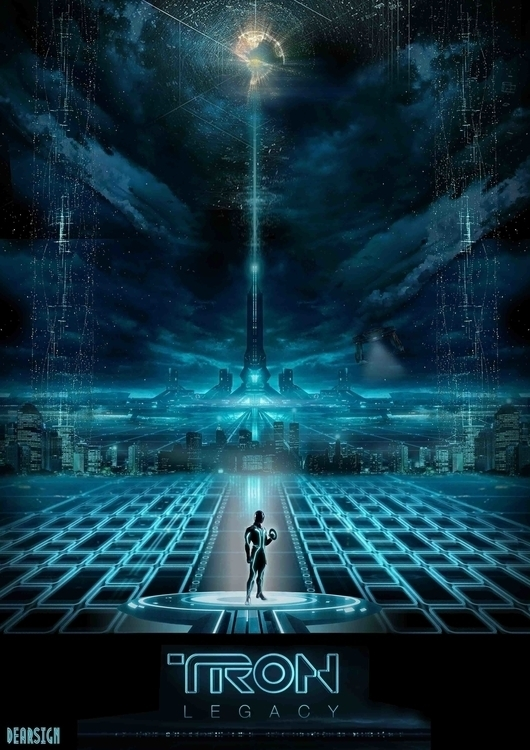 Tron tribute - illustration, conceptart - davidechieppa | ello