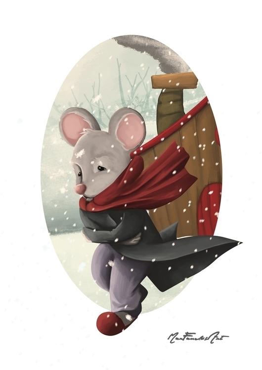 DAY 7 - Pérez, mouse - illustration - marfandosart | ello