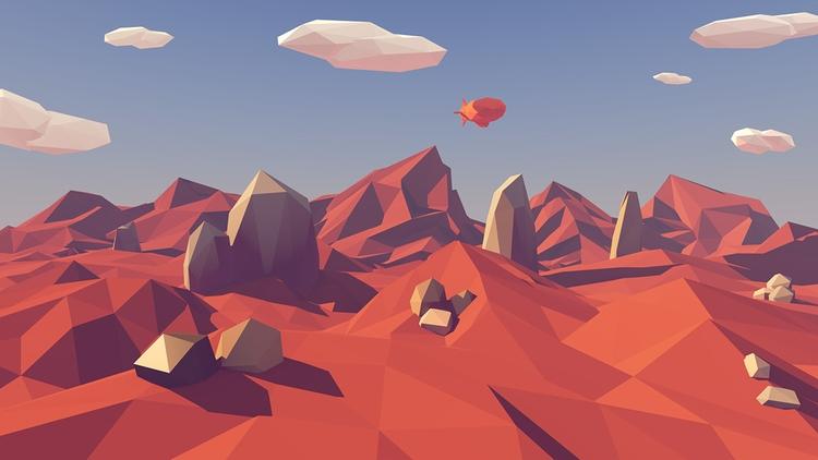 Poly Landscape process - illustration - timmiez | ello