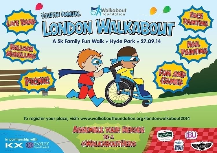 London Walkabout 2014 Poster - illustration - robbarrett-8075   ello