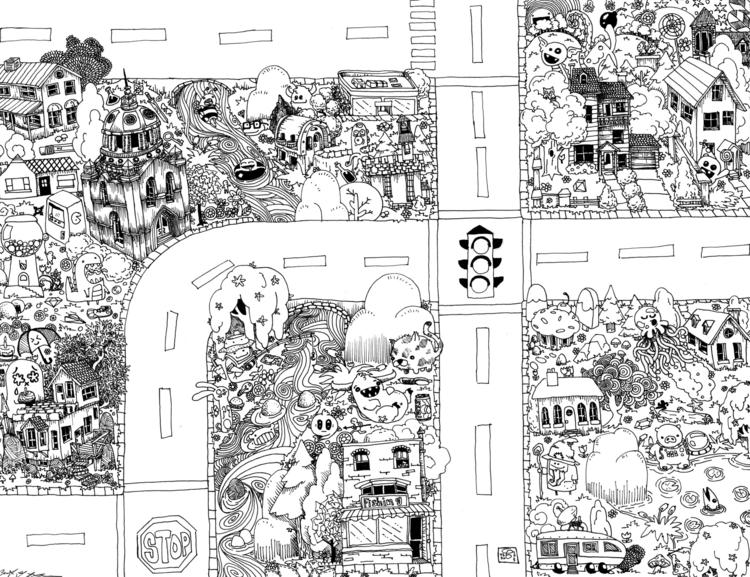 Seek Find Doodle Map 1 - doodle - wyldtrees | ello