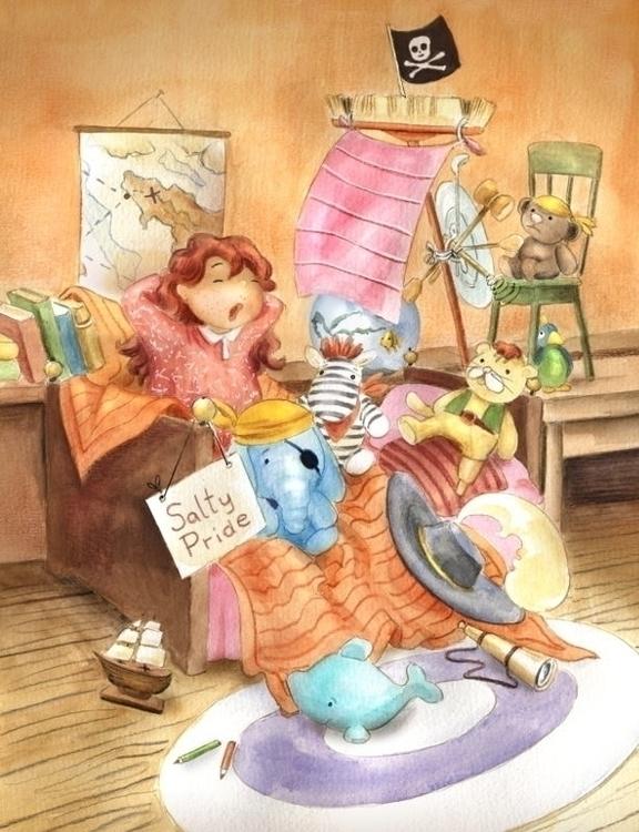 Pirate Ship - illustration, children'sillustration - joannapasek | ello