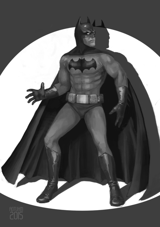 Retro Batman_2015 - illustration - aotuhm | ello