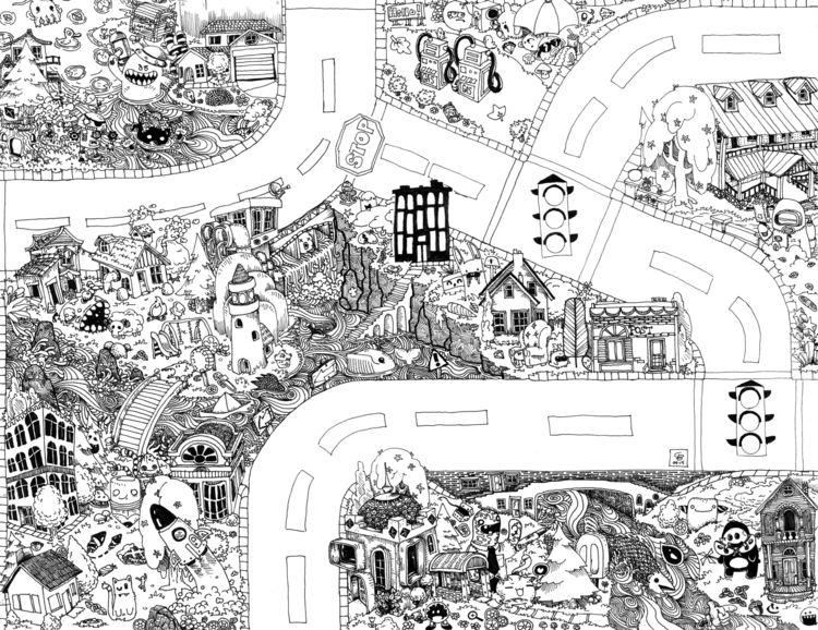 Seek Find Doodle Map 4 - doodle - wyldtrees | ello