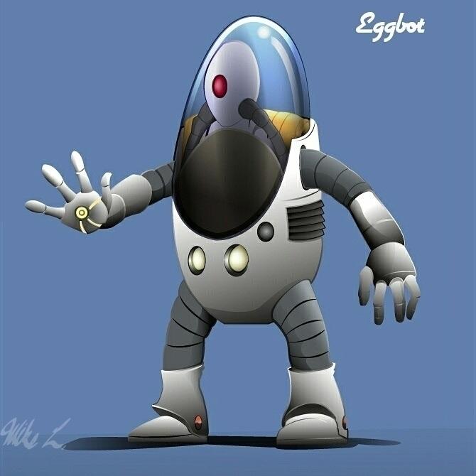 EggBot!! 2D vector character cr - outkkast | ello