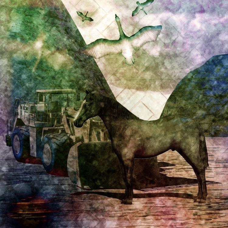 Horse chaos - illustration, conceptart - tenteangeorge | ello