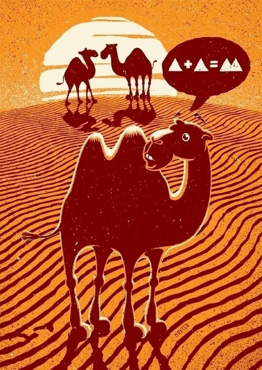 1+1=2 - 1+1=2, camel, desert, sun - maxter-3164 | ello
