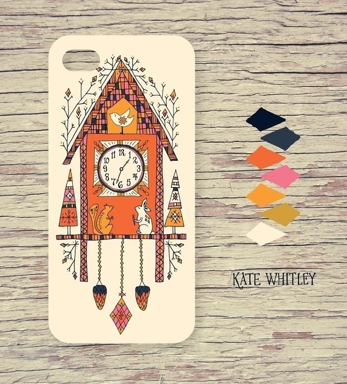 cuckoo clock iphone case - illustration - katewhitley | ello