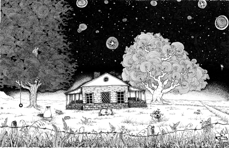 Stars - abandoned, house, home, quiet - wyldtrees | ello