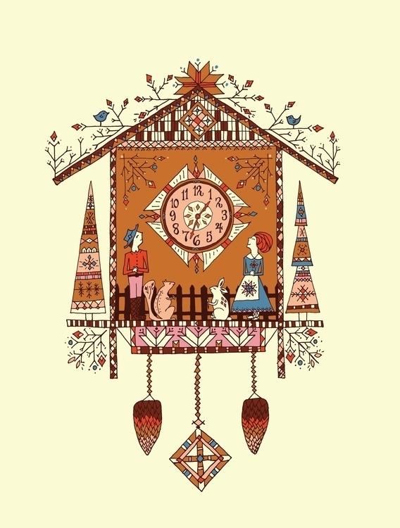 cuckoo clock - cuckooclock, illustration - katewhitley | ello