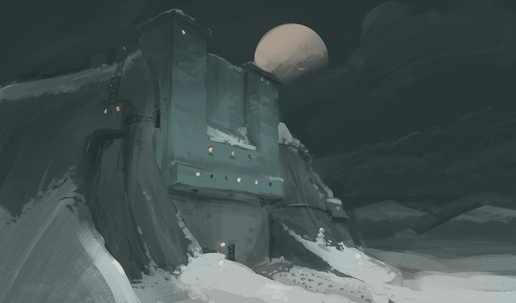 background paintin' 2 - castle, illustration - samszym | ello