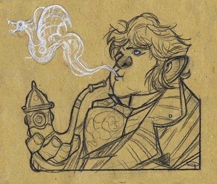 Hobbit - smoking Bilbo - bilbo, denismedri - denismedri | ello