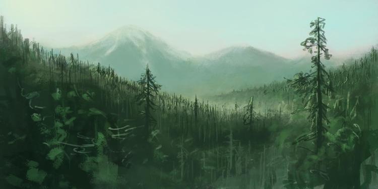 Morning Pine Forest - Imaginati - siberian_sweaters | ello