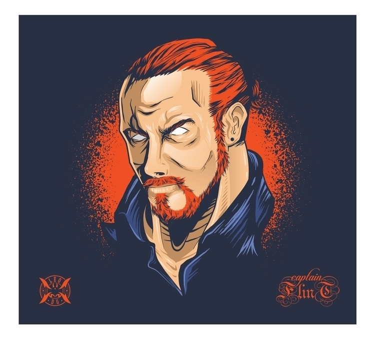 Captain Flint - illustration, blacksails - leom92 | ello