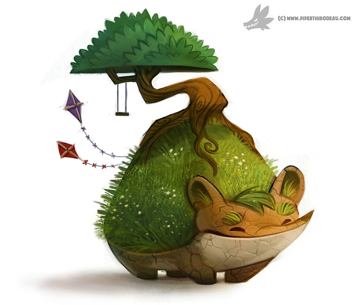 Daily Painting 883. Earth Day C - piperthibodeau | ello