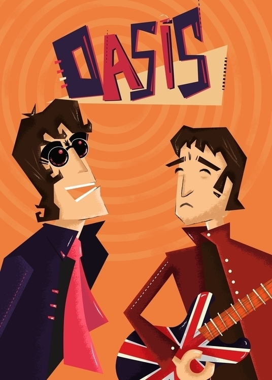 illustration, oasis, gallagher - nfiasche | ello