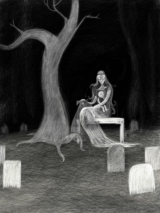 Lady child dog - creepy, ghost, ghoststory - beth-6270 | ello