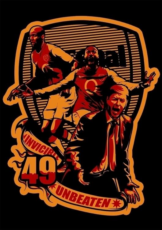 Arsenal Team - illustration, digitalart - swodshit | ello