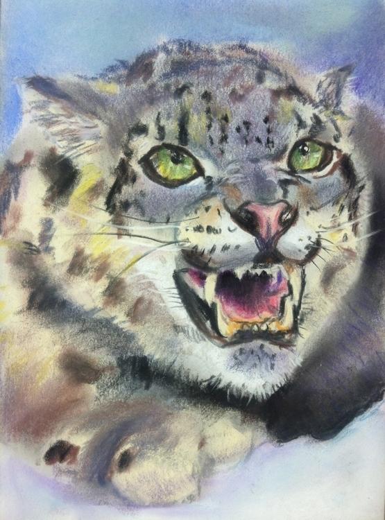 snow leopard - snowleopard, pastel - chimerikel | ello