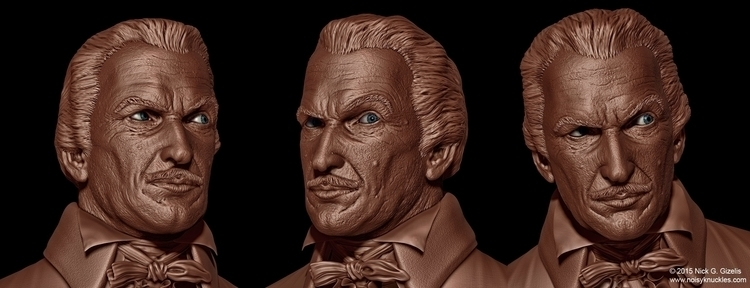digital sculpt Vincent Price bu - aumakua | ello