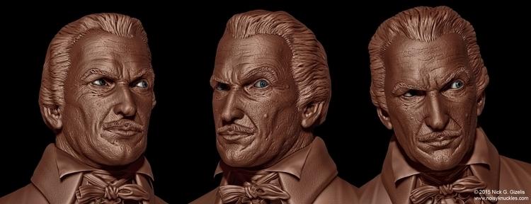 digital sculpt Vincent Price bu - aumakua   ello