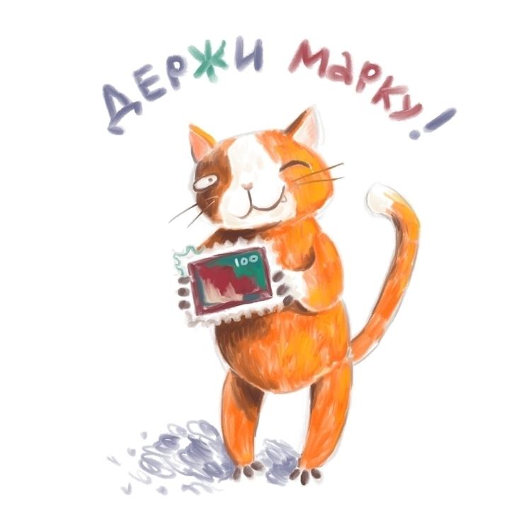 Postcat - cat, postcard, character - prianikn | ello