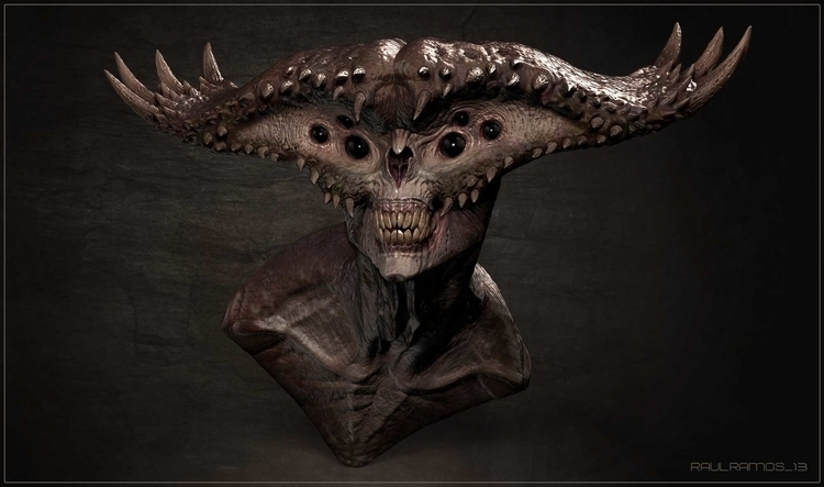 creaturedesign, zbrush, demon - raulramosart | ello