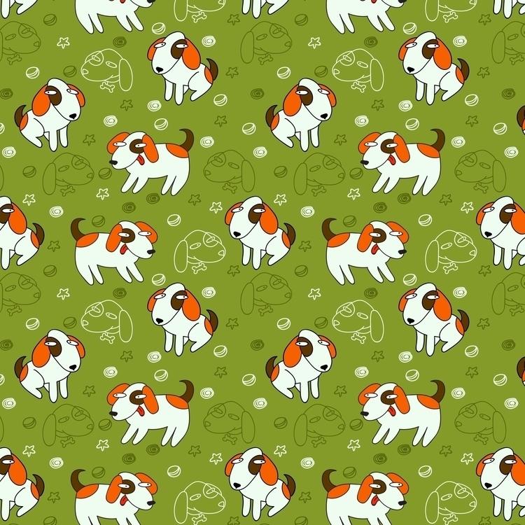 pattern - vector, dog, seamless - prianikn | ello
