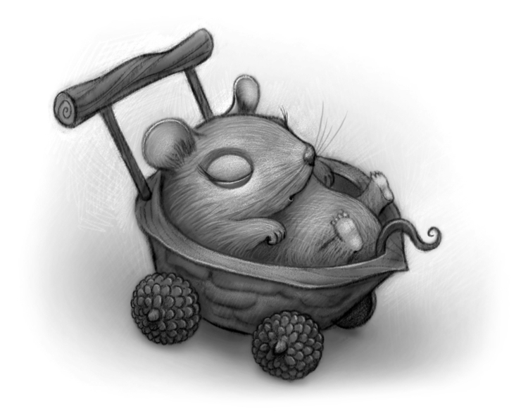 Mouse - baby, mouse, cute, walnut - willterry | ello