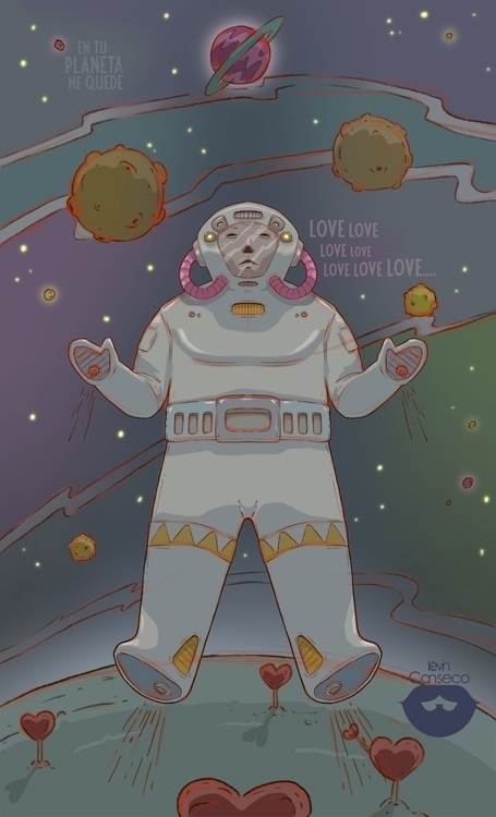 space - illustration, drawing, digitalart - cansecokevin | ello