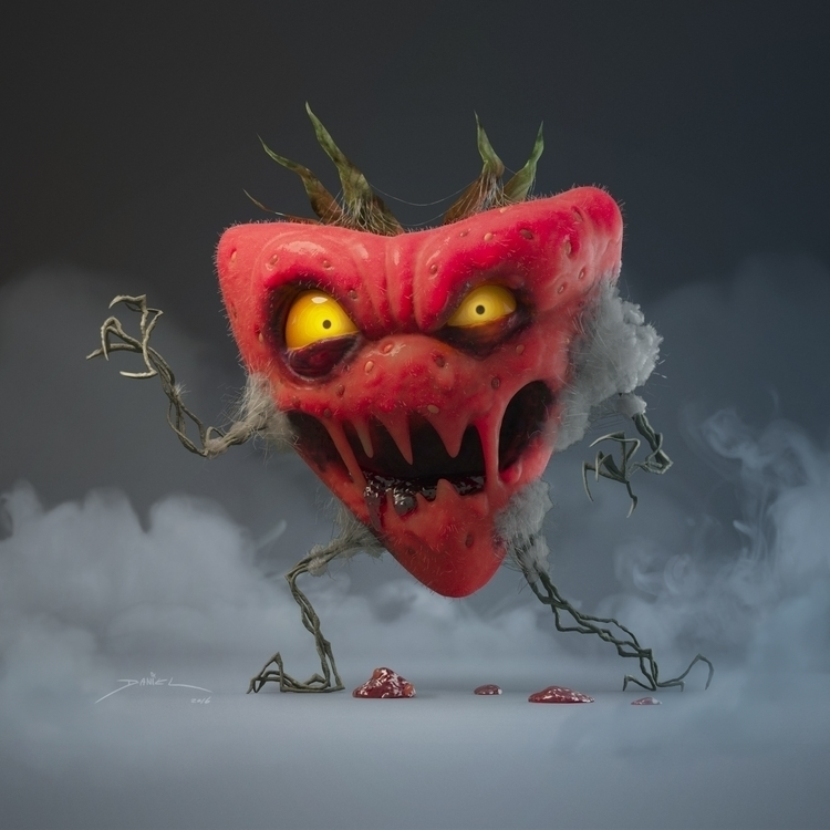 monster srawberry 3D model - splinterd | ello