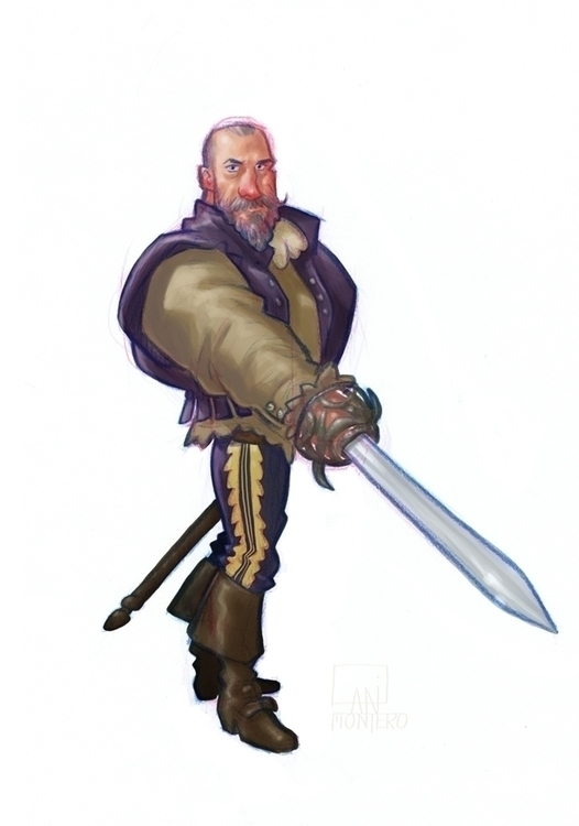 Musketeer - conceptdesign, sketch - danimontero | ello