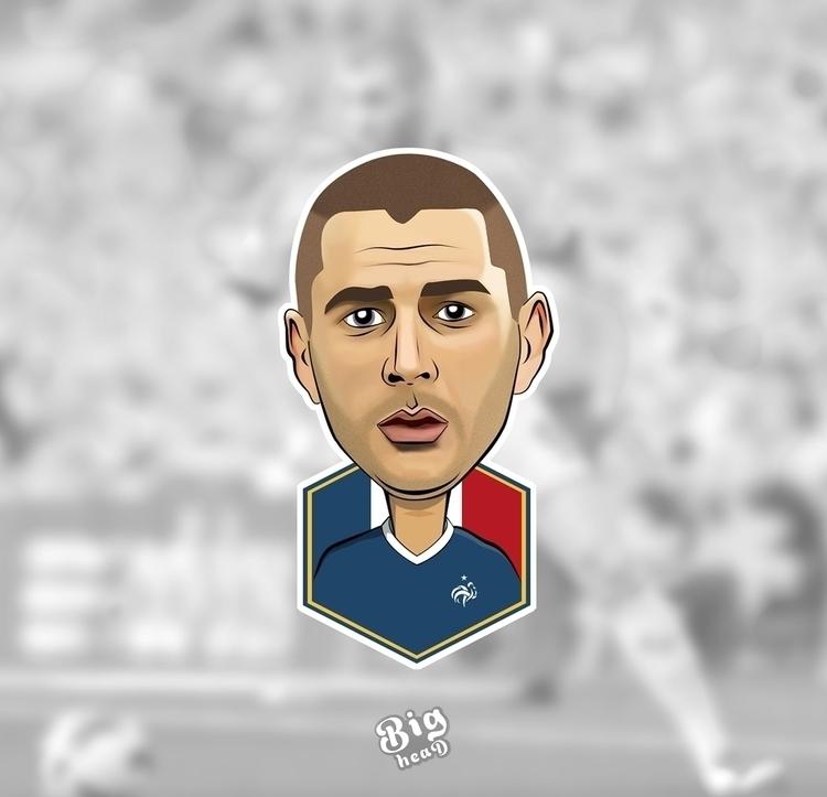 Karim Benzema - illustration, football - ashesh-8657 | ello