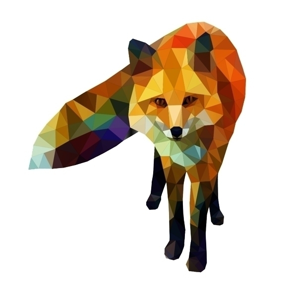 illustration, fox, geometric - marvellous-1264 | ello