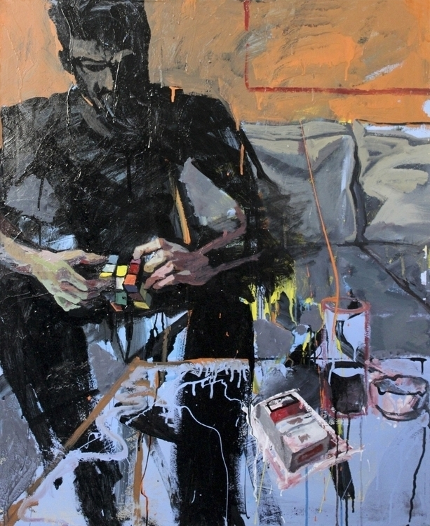 solution 2013 - cube, painting, fineart - moonset2 | ello