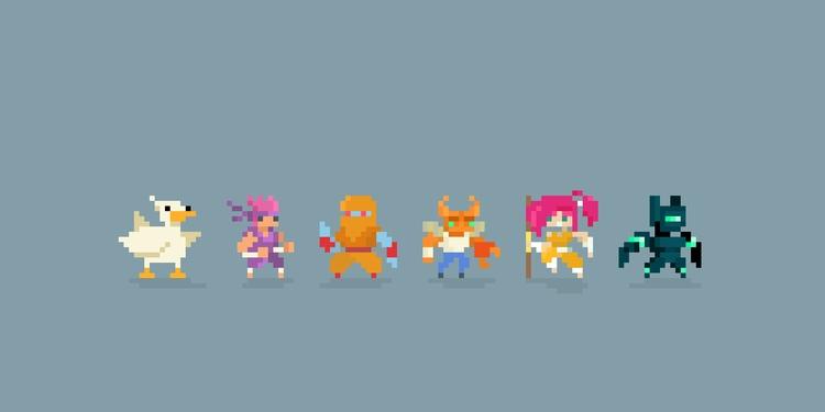 8-Bit Heroes - pixelart, gamedev - planckpixels | ello