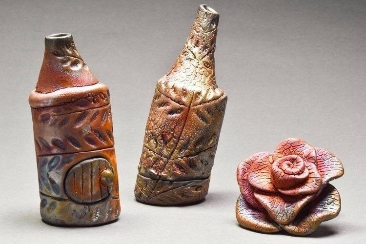 Raku Incense Burners Rose - rosepottery | ello