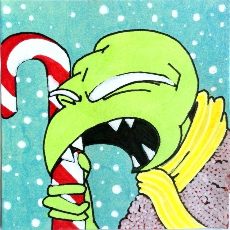 Merry Xmas - ink, sketch, xmas, christmas - planckpixels | ello