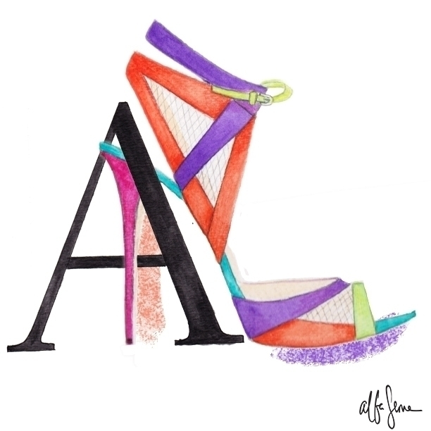 ABC shoes- Atwood shoes - illustration - albaserna | ello