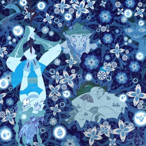 Rainforest Spirit. Lots blue fu - jackielandreth | ello