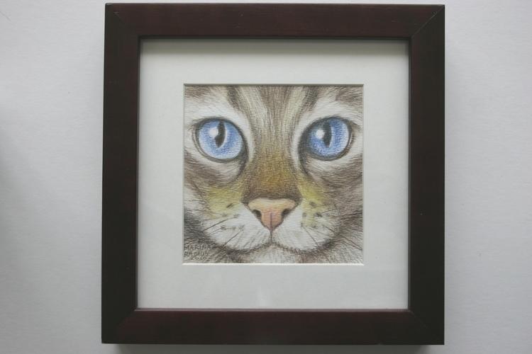 eyes(blue), pencil/watercolor p - marina-7013 | ello