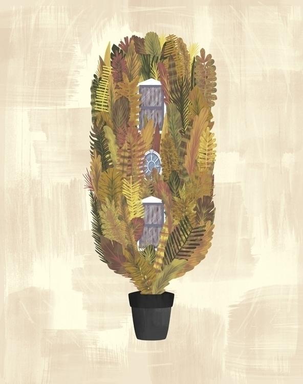 HOME Part 4 - vegetation, illustration - davidavend | ello