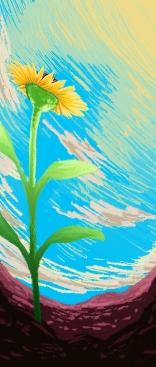 Sunflower - illustration, plant - donamarie | ello
