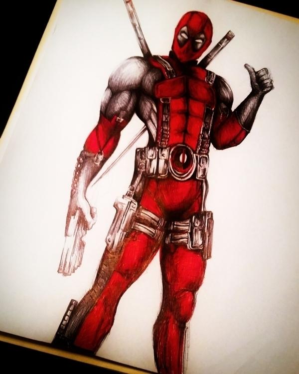 Marvel Comic Character - Deadpo - kre8-7785 | ello