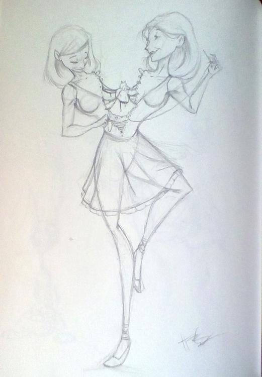 left - illustration, sketchbook - hasaniwalker | ello