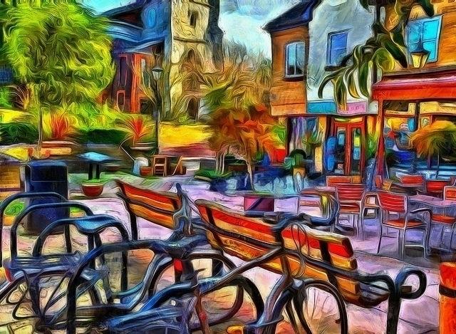 Floppy bikes empty benches - photography - leighkemp   ello